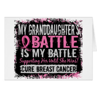 My Battle Too 2 Breast Cancer Granddaughter Card