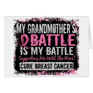 My Battle Too 2 Breast Cancer Grandmother Greeting Card