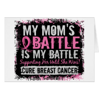 My Battle Too 2 Breast Cancer Mom Greeting Cards