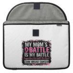 My Battle Too 2 Breast Cancer Mom MacBook Pro Sleeve