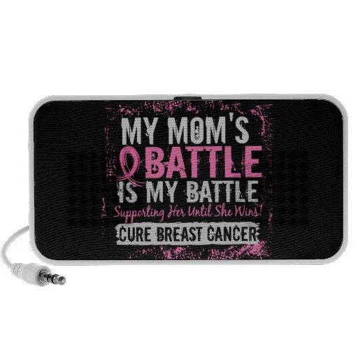 My Battle Too 2 Breast Cancer Mom Mini Speakers