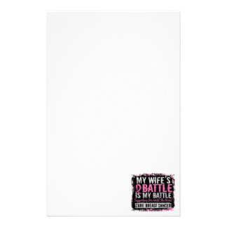 My Battle Too 2 Breast Cancer Wife Stationery