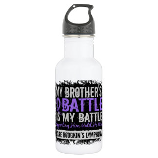 My Battle Too 2 Brother Hodgkins Lymphoma Water Bottle