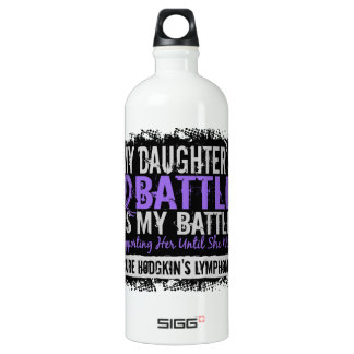 My Battle Too 2 Daughter Hodgkins Lymphoma Aluminum Water Bottle