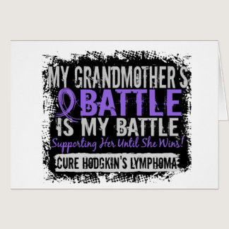 My Battle Too 2 Grandmother Hodgkins Lymphoma Card