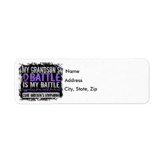 My Battle Too 2 Grandson Hodgkins Lymphoma Label