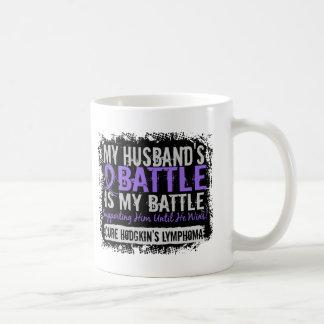 My Battle Too 2 Husband Hodgkins Lymphoma Coffee Mugs