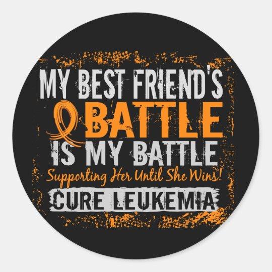 My Battle Too 2 Leukemia Best Friend Female Classic Round Sticker