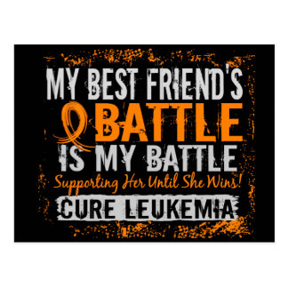 My Battle Too 2 Leukemia Best Friend Female Postcard