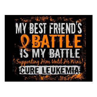 My Battle Too 2 Leukemia Best Friend Male Postcard
