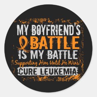 My Battle Too 2 Leukemia Boyfriend Classic Round Sticker