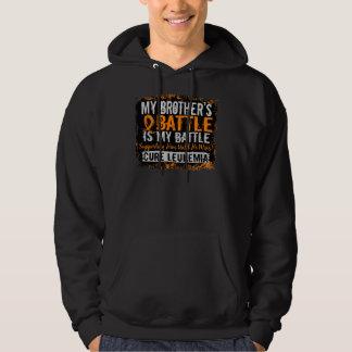 My Battle Too 2 Leukemia Brother Hooded Sweatshirts
