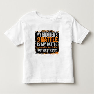 My Battle Too 2 Leukemia Brother Toddler T-shirt