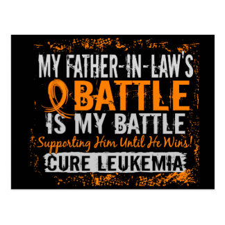 My Battle Too 2 Leukemia Father-In-Law Postcard