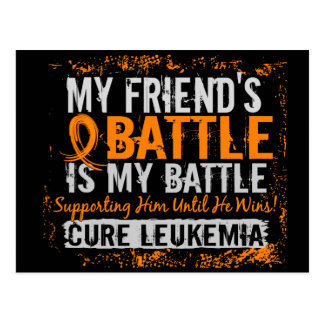My Battle Too 2 Leukemia Friend Male Postcard