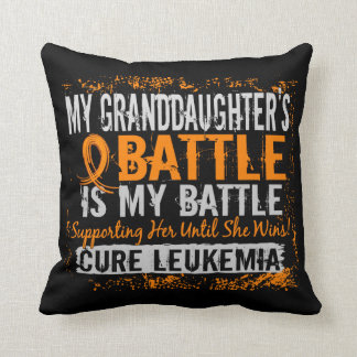 My Battle Too 2 Leukemia Granddaughter Throw Pillow