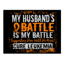 My Battle Too 2 Leukemia Husband Postcard