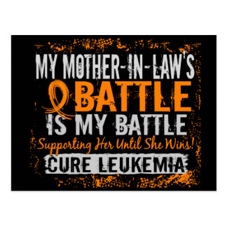 My Battle Too 2 Leukemia Mother-In-Law Postcard