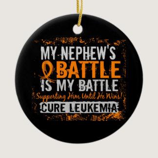 My Battle Too 2 Leukemia Nephew Ceramic Ornament