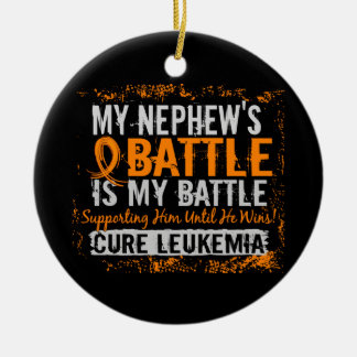 My Battle Too 2 Leukemia Nephew Ornaments