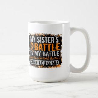 My Battle Too 2 Leukemia Sister Classic White Coffee Mug