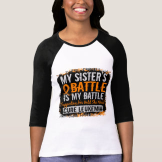 My Battle Too 2 Leukemia Sister T-Shirt