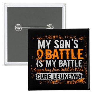My Battle Too 2 Leukemia Son Pinback Button