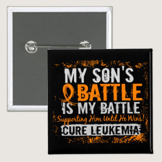 My Battle Too 2 Leukemia Son Pinback Button
