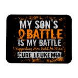 My Battle Too 2 Leukemia Son Rectangular Photo Magnet