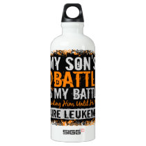 My Battle Too 2 Leukemia Son Water Bottle