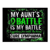 My Battle Too 2 Lymphoma Aunt Postcard