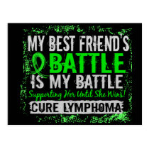 My Battle Too 2 Lymphoma Best Friend Female Postcard