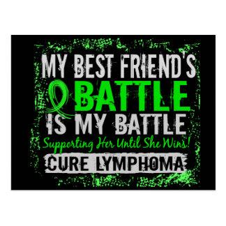 My Battle Too 2 Lymphoma Best Friend Female Postcard