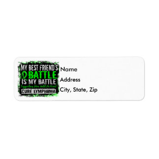 My Battle Too 2 Lymphoma Best Friend Male Label