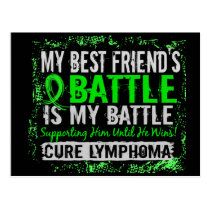 My Battle Too 2 Lymphoma Best Friend Male Postcard