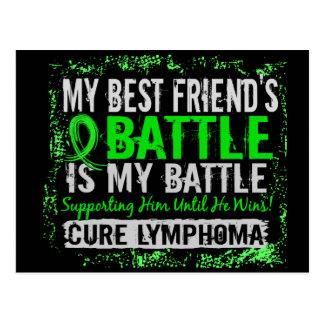 My Battle Too 2 Lymphoma Best Friend Male Postcard