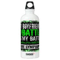 My Battle Too 2 Lymphoma Boyfriend Aluminum Water Bottle