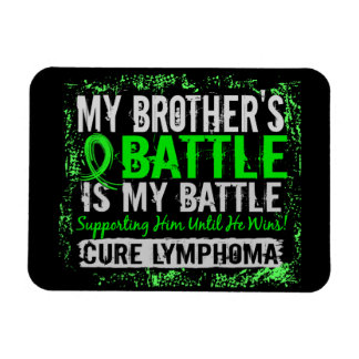 My Battle Too 2 Lymphoma Brother Magnet