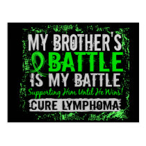 My Battle Too 2 Lymphoma Brother Postcard