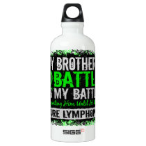 My Battle Too 2 Lymphoma Brother Water Bottle