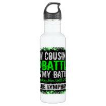 My Battle Too 2 Lymphoma Cousin Male Water Bottle