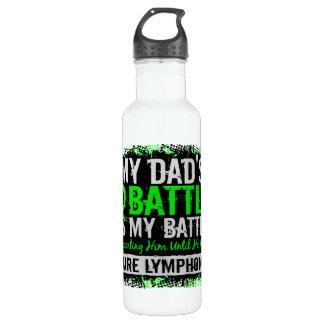 My Battle Too 2 Lymphoma Dad 24oz Water Bottle