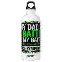 My Battle Too 2 Lymphoma Dad Aluminum Water Bottle