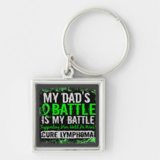 My Battle Too 2 Lymphoma Dad Keychain