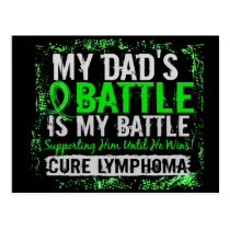 My Battle Too 2 Lymphoma Dad Postcard