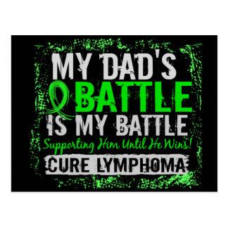 My Battle Too 2 Lymphoma Dad Postcard