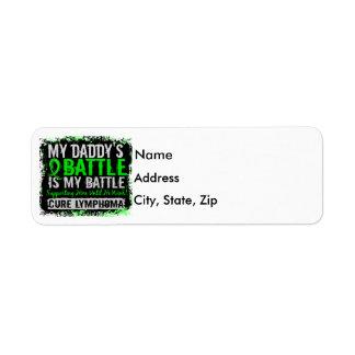 My Battle Too 2 Lymphoma Daddy Return Address Label