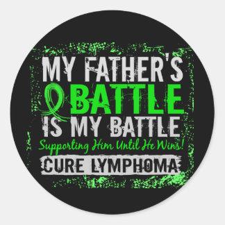 My Battle Too 2 Lymphoma Father Classic Round Sticker