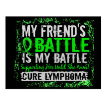 My Battle Too 2 Lymphoma Friend Female Postcard