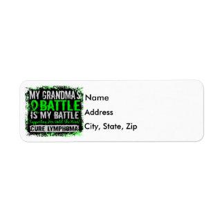 My Battle Too 2 Lymphoma Grandma Label